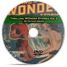 Thrilling Wonder Stories, Vol 2, 39 Classic Pulp Magazine, Fiction DVD CD C60