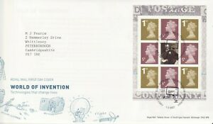 GB Stamps First Day Cover Booklet Pane Y1670l from DX38 World of Invention 2007