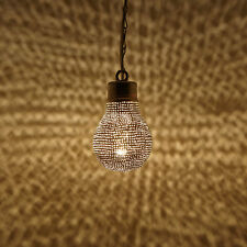 Orientalische Marokkanische Lampe Hängelampe Hängeleuchte Birnenform Midelt Neu