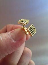 Square Screw Back Stud Earrings 8.5mm New 14K Gold 0.5ct. Created Diamond