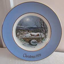 "8 3/4"" Avon Christmas Plate Dashing Through the Snow, 7th Edition, 1979"