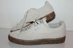 Puma Suede Casual Sneakers, #364397-01, Beige, Leather, Men's US Size 7C