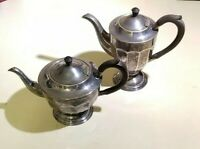 Vintage Cheltenham Sheffield England Silver Plated Tea Set - 2 Pieces, Art Deco