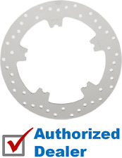 Polished Stainless Drilled Front Brake Rotor 07-17 Harley V-Rod Dyna OEM Replace