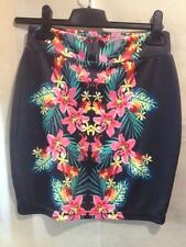 CARRIBEAN PRINT SASS MINI SKIRT BNWT SZ 8 FREE POST (F15) CLUB WEAR WOMENS SHORT
