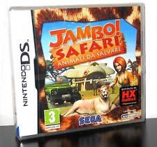 JAMBO! SAFARI ANIMALI DA SALVARE GIOCO NUOVO PER NINTENDO DS E 3DS ED ITA PG628