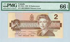 1986 CANADA $2 ARX BC-55bA REPLACEMENT THIESSEN / CROW PMG 66 EPQ
