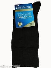 Calcetin socks Abanderado LANA EXTRA ,algodón interior suave y cálido T.U marrón
