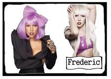 Plaque de porte plastifié Lady Gaga 03 + prénom