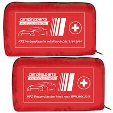 2x Auto Verbandskasten Verbandstasche KFZ Fahrzeug Verbandtasche DIN 13164 Rot