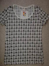ORLA KIELY FOR UNIQLO - GREY & WHITE PEARS GRAPHIC T-SHIRT- SIZE SMALL -NEW