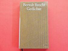 Buch: Gedichte * von Bertolt Brecht * Zustand: sehr gut * gebraucht