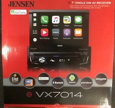"Jensen VX7014 Single Din Navigation 7"" Multimedia Receiver w/ CarPlay BRAND NEW"