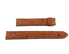 17mm X 16mm Brown Ostrich Jaeger-LeCoultre Band