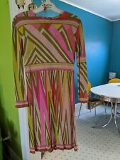 beautiful unique vintage Pucci women's dress (small). One hundred percent silk.
