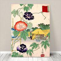 "Beautiful Japanese Floral Art ~ CANVAS PRINT 8x10"" ~ Morning Glory Koson"