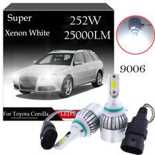 2Pcs For Toyota Corolla Verso 2002-2009 Front LED Headlight 9006 HB4 Xenon Bulbs