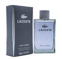 LACOSTE POUR HOMME * Cologne for Men * 3.3 / 3.4 oz * NEW IN BOX