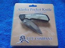 "ULU Alaska Stainless Steel Locking Blade Knife 3"" 7.5cm Designed By Alaskans"