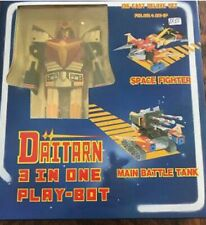 Vintage Deluxe Daitarn 3-In-One Play-Bot Action Figure Die-Cast Robot '80s New