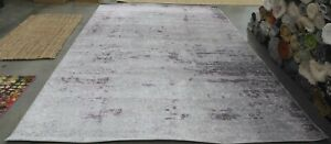 LIGHT GREY / PURPLE 9' X 12' Back Stain Rug, Reduced Price 1172621139 ADR130M-9