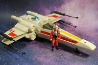 VINTAGE STAR WARS COMPLETE X-WING FIGHTER + Luke Skywalker FIGURE KENNER WORKS!