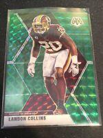 2020 Mosaic Landon Collins Green Prizm Mosaic Washington Redskins #199