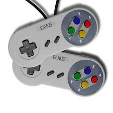 2er Set Super Nintendo Controller SNES 💫1,5 m Kabellänge Gamepad Joypad Eaxus