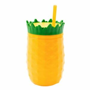 Cool Gear 16oz Tiki Tumbler w/Lid and Straw Double Insulated Tropical BPA Free