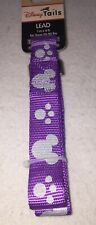 Disney Parks Tails Mickey Mouse Purple Dog Lead Leash NEW 20-90 lbs