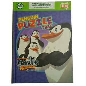 LeapFrog Tag Game Book Penguin Puzzle Book Madagascar (4-6 yrs) New Sealed