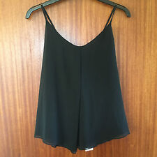 M&S Per Una Ladies Black (Back Bead Detail) Scoop Neck Sleeveless Top Size 12