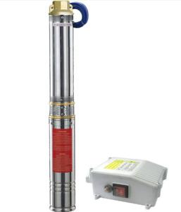 ELETTROPOMPA SOMMERSA 1,5 HP POMPA PER ACQUA IN ACCIAIO INOX POZZO IMMERSIONE