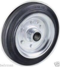 Ruota per carrelli gomma piena 80x25 disco ferro con cuscinetti a Rulli P.Kg 51