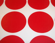60 Red 45mm 1 3/4 Inch Colour Code Dots Round Stickers Sticky Id Labels