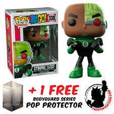 FUNKO POP TEEN TITANS CYBORG AS GREEN LANTERN EXCLUSIVE + FREE POP PROTECTOR