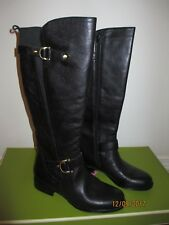 64210d72aa6 Naturalizer Jersey Round Toe Leather Knee High Boot SZ 5.5