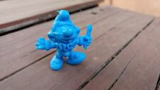 "VTG RARE CLOWN SMURF PITUFO MEXICAN BLUE RUBBER 2"" FIGURE MEXICO"