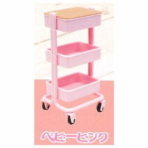 Yell Capsule Gashapon Kitchen Wagon Movable Storage Furniture set # 2 Baby pink