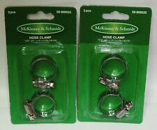 "2 Packs Of 2 McKinney & Schmidt Stainless Steel Hose Clamps 3/4"" To 1.1/8"" 4ct"