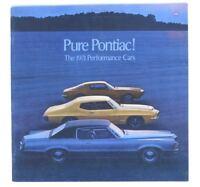 1971 Pontiac Performance Cars Brochure GTO Firebird Trans Am GT-37 Judge