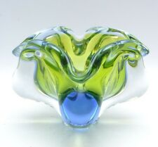 Stunning Josef Hospodka for Chribska Czech Art Glass Biomorphic Bowl