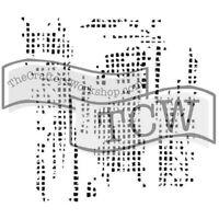 "The Crafter's Workshop Set of 2 Stencils - Tile Texture - 12x12"" Lg & 6x6"" Mini"