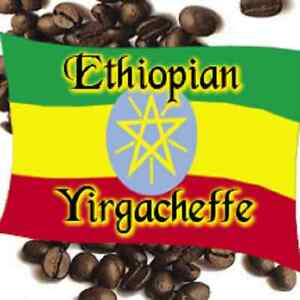 2 lbs Ethiopian Yirgacheffe Washed Grade 1 Light Roast Coffee Beans, Fresh Daily