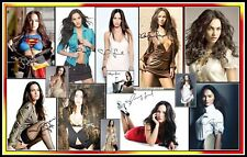 Megan Fox, Signed, Collage Cotton Canvas Image. Limited Edition (MF-1)