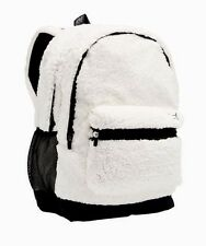 Victoria's Secret PINK Campus Backpack Sherpa Snow White Laptop Bookbag NEW