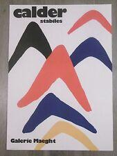 CALDER Alexander Affiche originale lithographie Stabiles Abstrait 1971 Mobiles