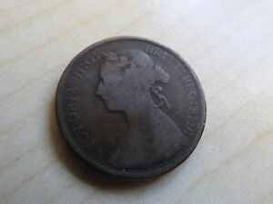 Queen Victoria Half-Penny Double Heads Old Trick Coin (myrefn9247B)