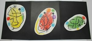 Vintage JOAN MIRÓ Triple Page Original Lithograph From XXe Siècle No 31 1968