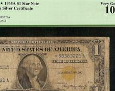 STAR 1935 $1 DOLLAR SILVER CERTIFICATE WWII YELLOW SEAL NOTE MONEY Fr 2306* PCGS